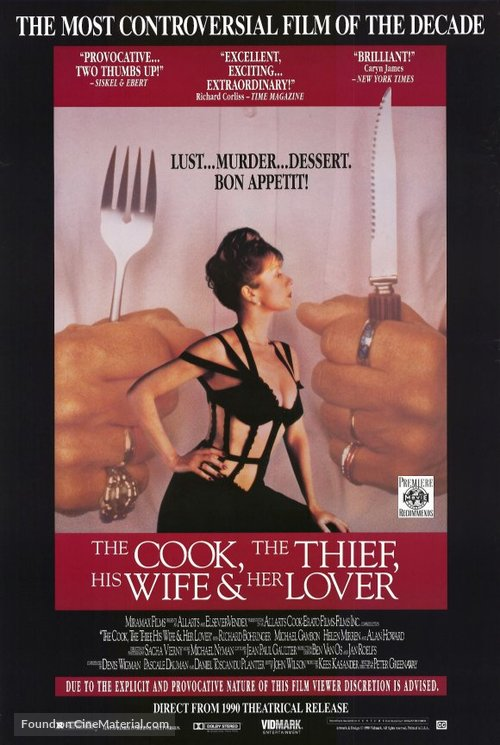 The Cook the Thief His Wife & Her Lover - Movie Poster