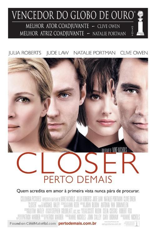 Closer - Brazilian Movie Poster
