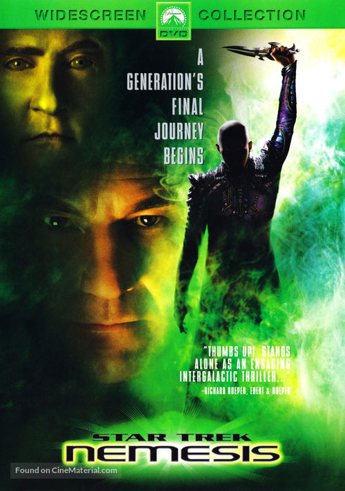 Star Trek: Nemesis - DVD cover