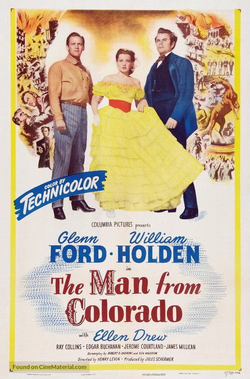 The Man from Colorado - Theatrical movie poster