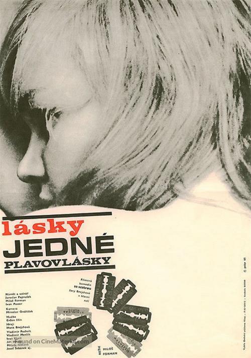 Lásky jedné plavovlásky - Czech Movie Poster