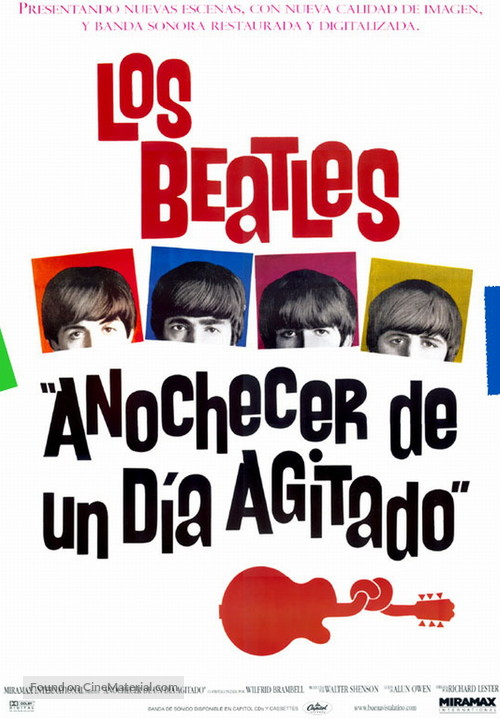 A Hard Day's Night - Mexican Movie Poster