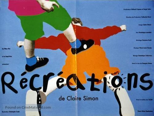 Récréations - French Movie Poster