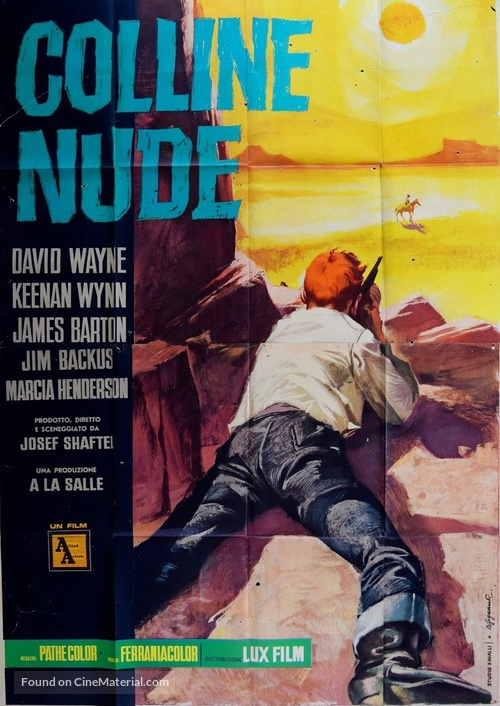 The Naked Hills - Italian Movie Poster