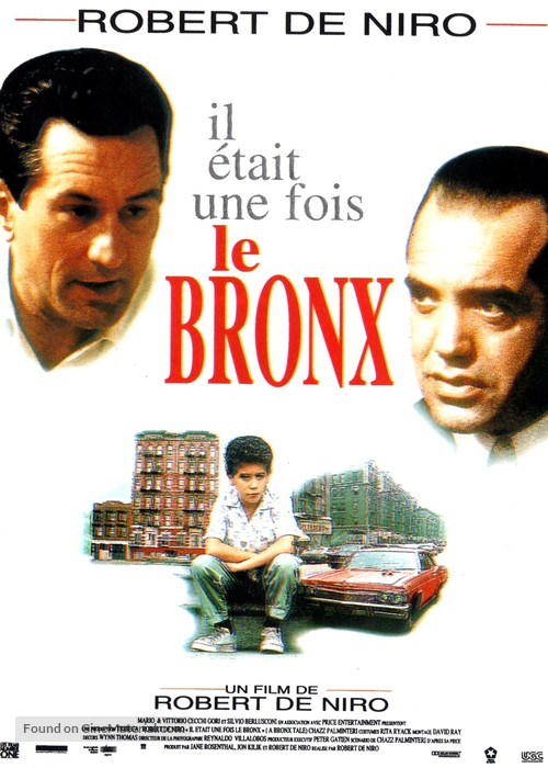 A Bronx Tale - French Movie Poster
