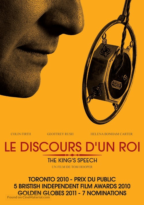 The King's Speech - French Movie Poster
