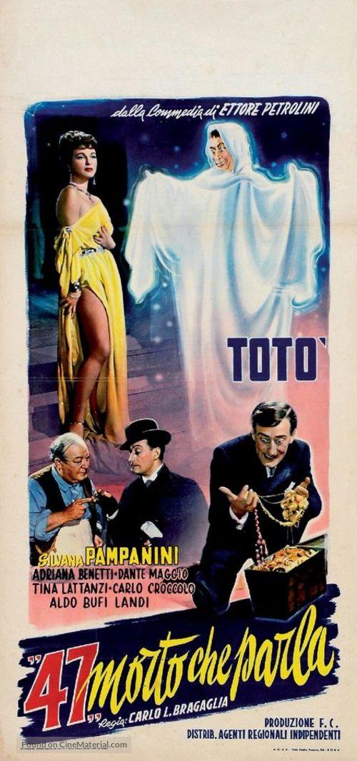 47 morto che parla - Italian Theatrical movie poster
