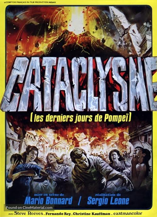 Ultimi giorni di Pompei, Gli - French Re-release movie poster