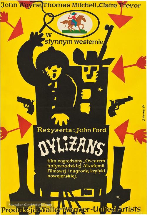 Stagecoach - Polish Movie Poster