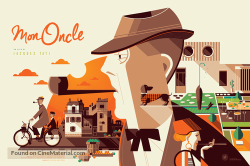 Mon oncle - Belgian Re-release poster