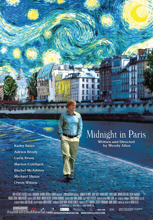 Midnight in Paris - Canadian Movie Poster
