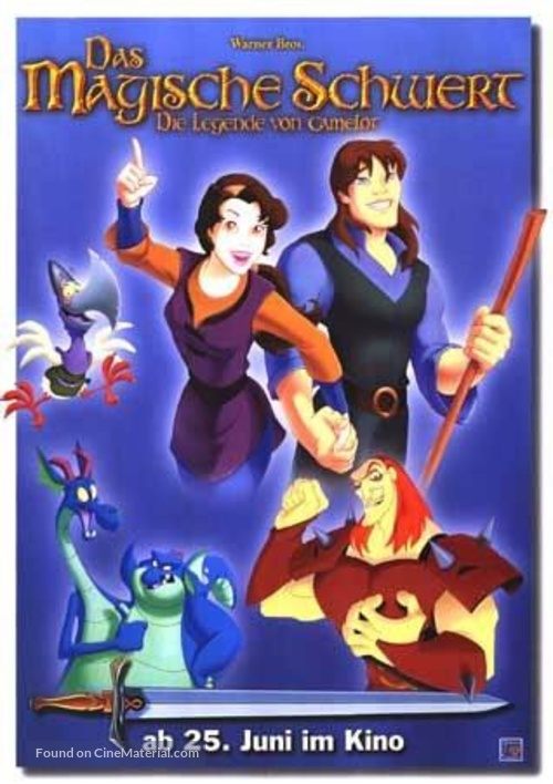 Quest for Camelot - German Movie Poster