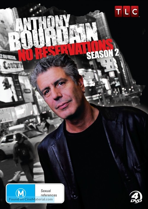 """""""Anthony Bourdain: No Reservations"""" - Australian DVD movie cover"""