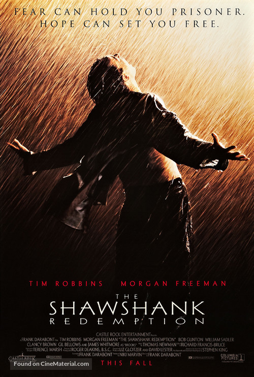 The Shawshank Redemption - Advance movie poster