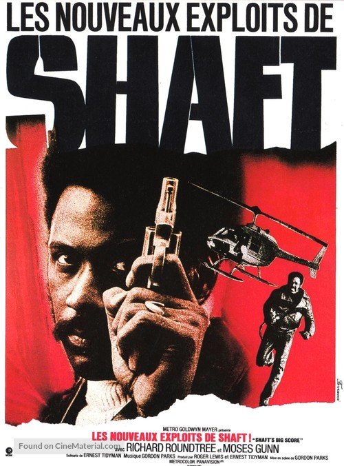 Shaft S Big Score French Movie Poster