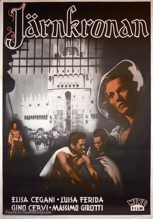 La corona di ferro - Swedish Movie Poster