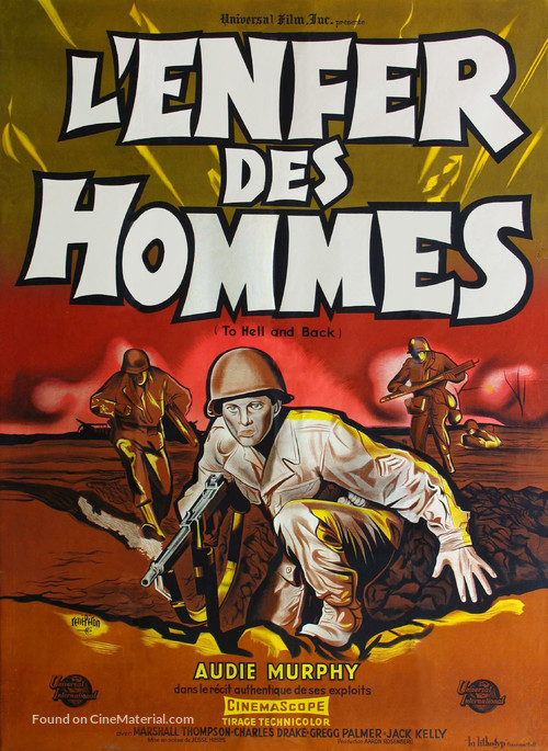 To Hell and Back - French Movie Poster