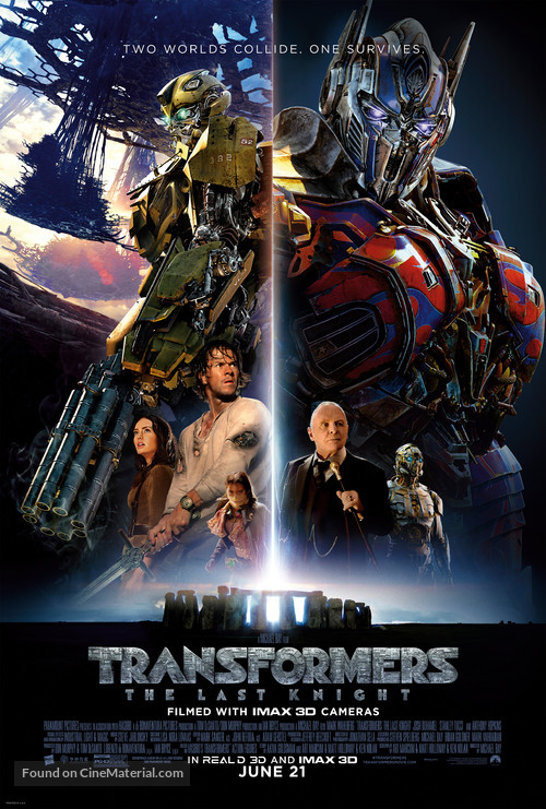 Transformers: The Last Knight - Theatrical movie poster