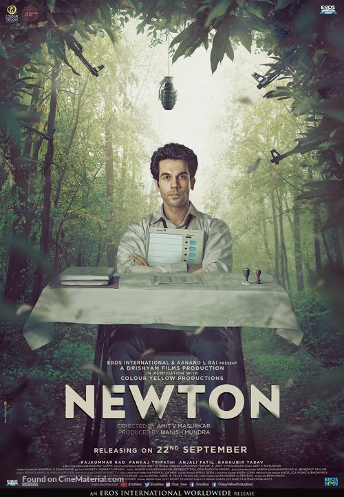 Newton - Indian Movie Poster