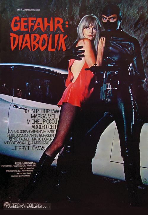 Diabolik - German Movie Poster