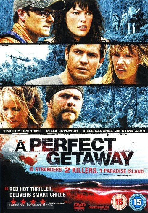 A Perfect Getaway - British DVD movie cover