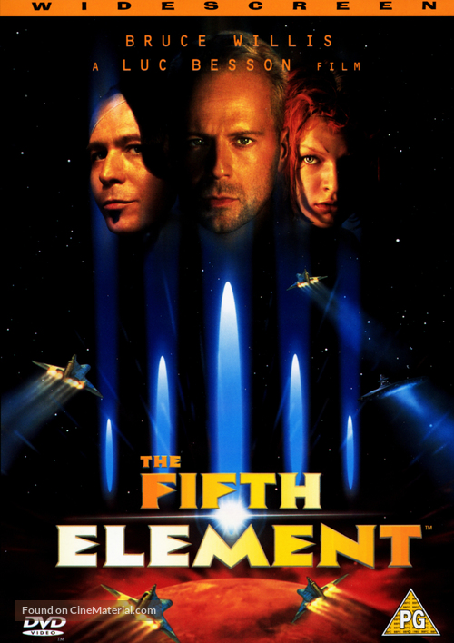 The Fifth Element - British DVD movie cover