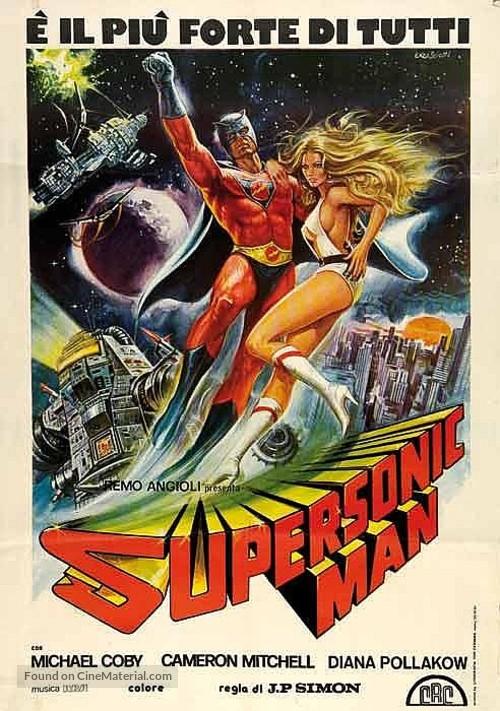 Supersonic Man - Italian Movie Poster