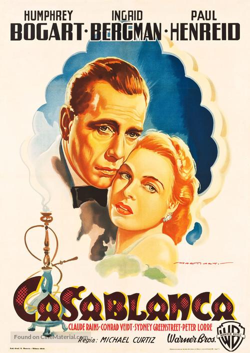 Casablanca - Italian Movie Poster