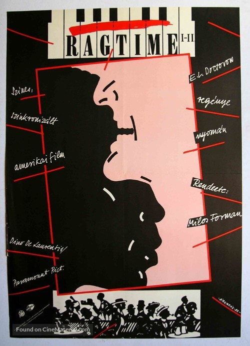Ragtime - Hungarian Movie Poster