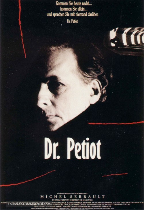 Docteur Petiot - German Movie Poster