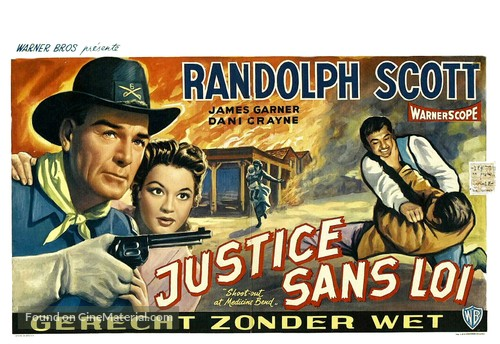 Shoot-Out at Medicine Bend - Belgian Movie Poster