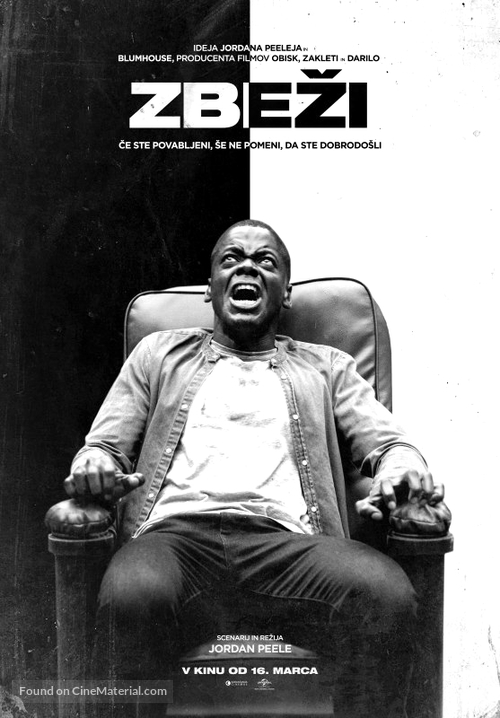 Get Out - Slovenian Movie Poster