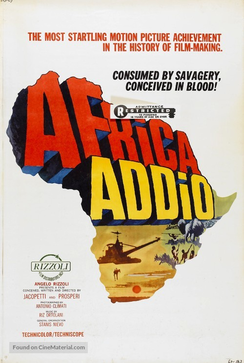 Africa addio - Movie Poster