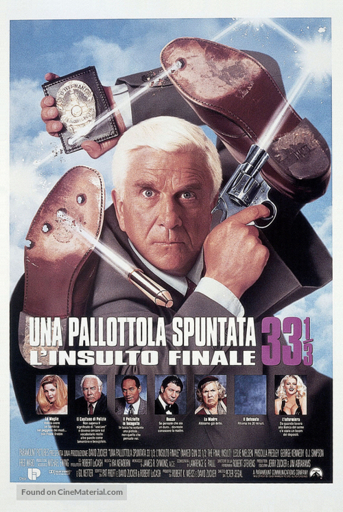 Naked Gun 33 1/3: The Final Insult - Italian Theatrical poster