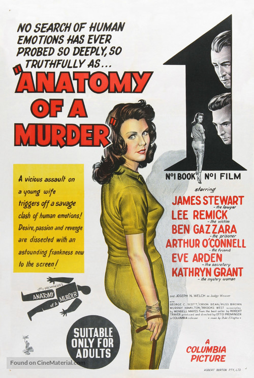 Anatomy of a Murder - Australian Movie Poster
