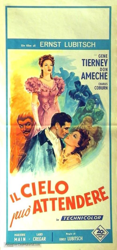 Heaven Can Wait - Italian Movie Poster