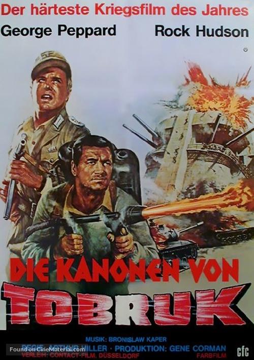 Tobruk - German Movie Poster