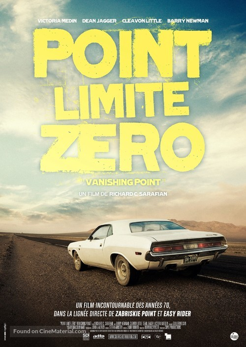 Vanishing Point - French Re-release poster