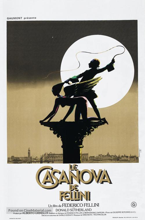Il Casanova di Federico Fellini - French Movie Poster