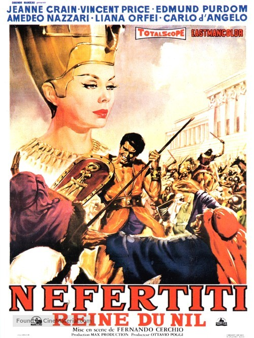 Nefertiti, regina del Nilo - French Movie Poster