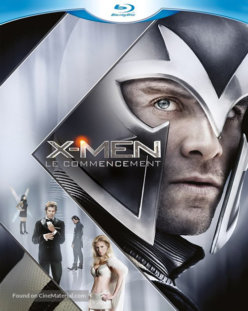 X-Men: First Class - French Blu-Ray movie cover
