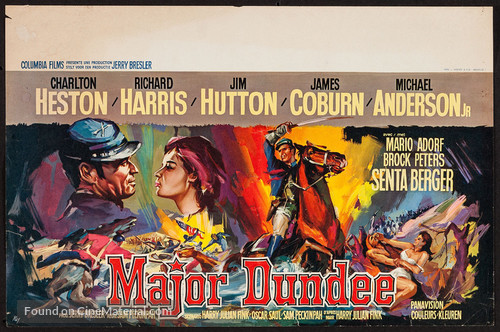 Major Dundee - Belgian Movie Poster
