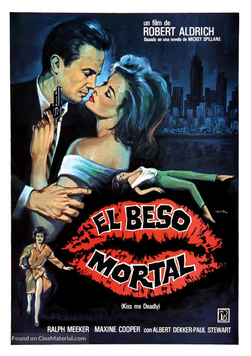 Kiss Me Deadly - Spanish Movie Poster