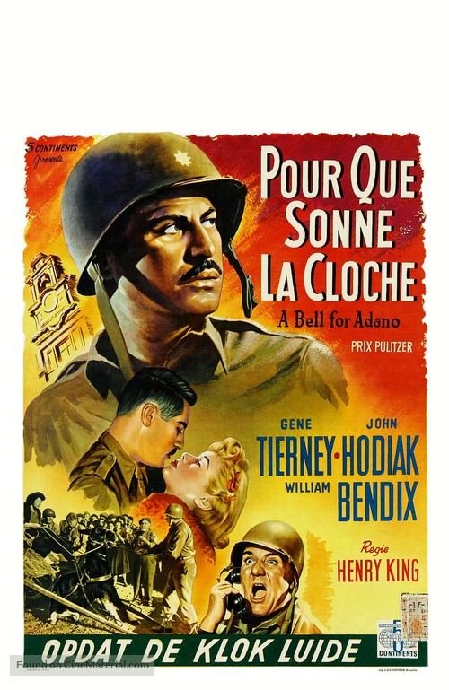 A Bell for Adano - Belgian Movie Poster