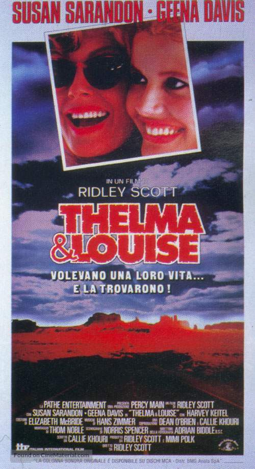 Thelma And Louise - Italian Movie Poster
