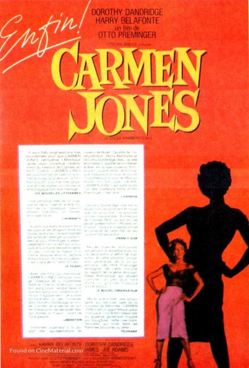 Carmen Jones - French Movie Poster