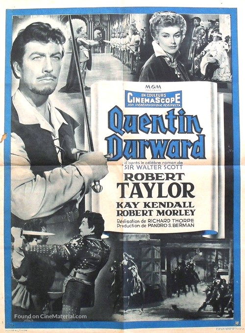 The Adventures of Quentin Durward - French Movie Poster