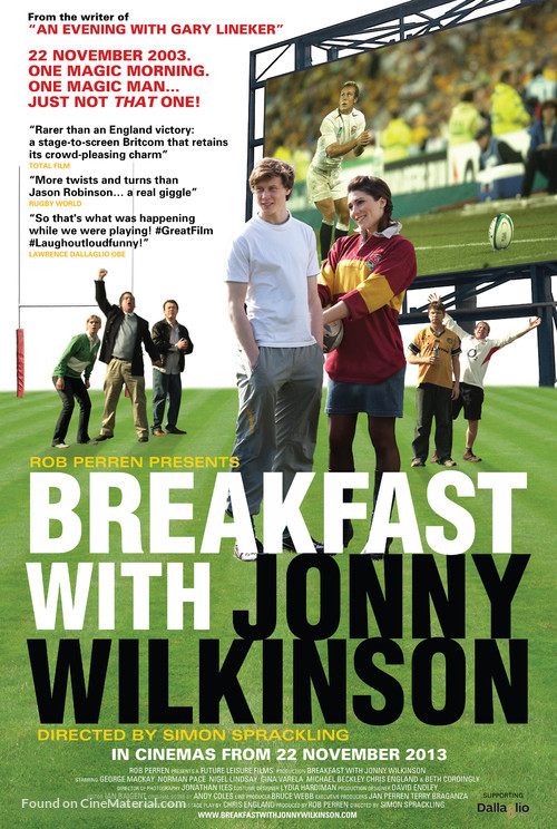 Breakfast with Jonny Wilkinson - British Movie Poster