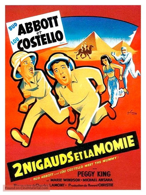 Abbott and Costello Meet the Mummy - French Movie Poster