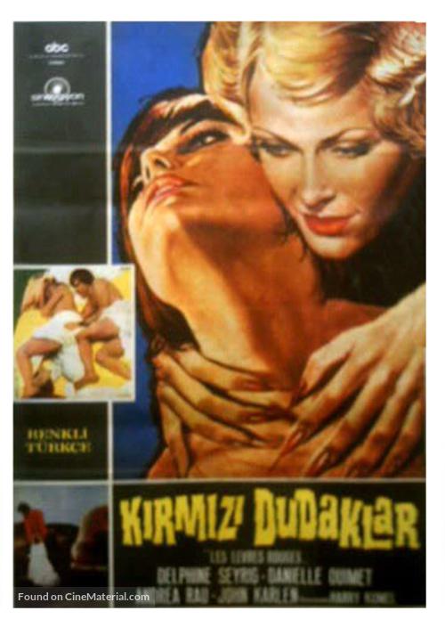 Les lèvres rouges - Turkish Movie Poster